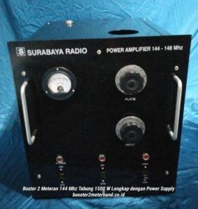 Booster 2 Meter Band 144 Mhz Tabung 1500 W Lengkap dengan Power Supply Tinggal Colok Listrik