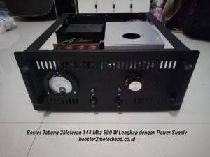 Booster Tabung 2 Meter Band frekuensi 144 Mhz 500 W Lengkap dengan Power Supply Tinggal Colok Listrik