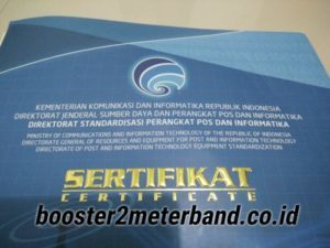 Sertifikasi Produk Boster 2 Meter Band Tabung